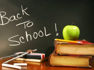 Back to School from Summer Vacation